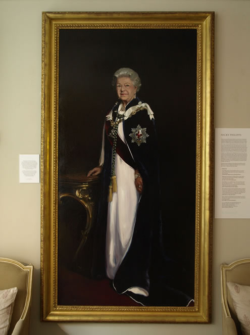nicky philipps hm queen elizabeth ii portrait